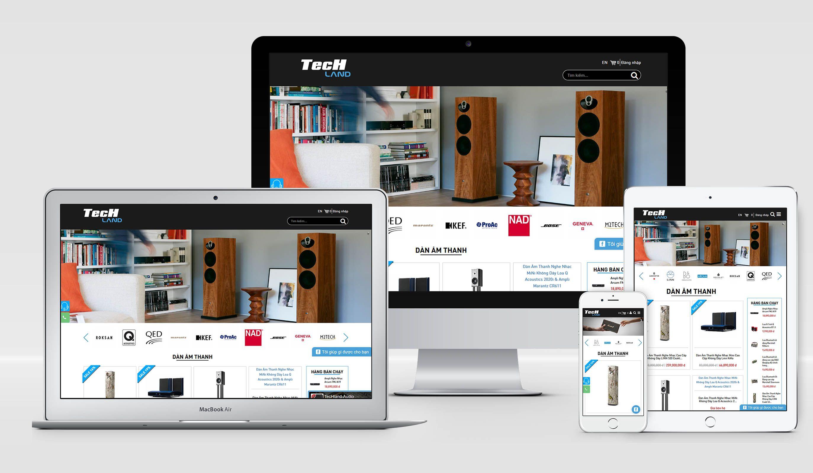 Thiết kế website bán hàng thương mại điện tử chuẩn SEO