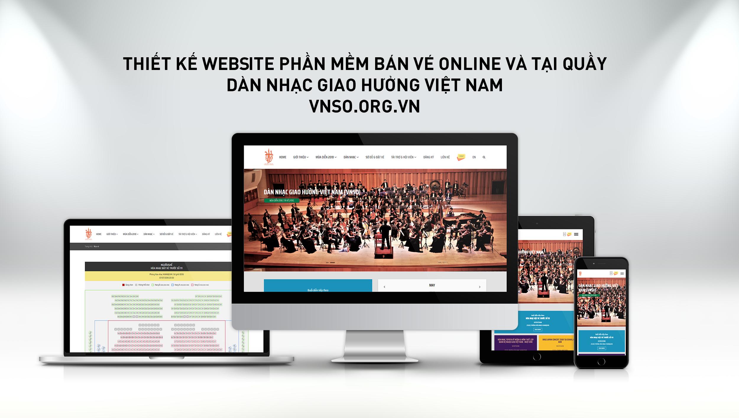 thiết kế website bán vé trực tuyến