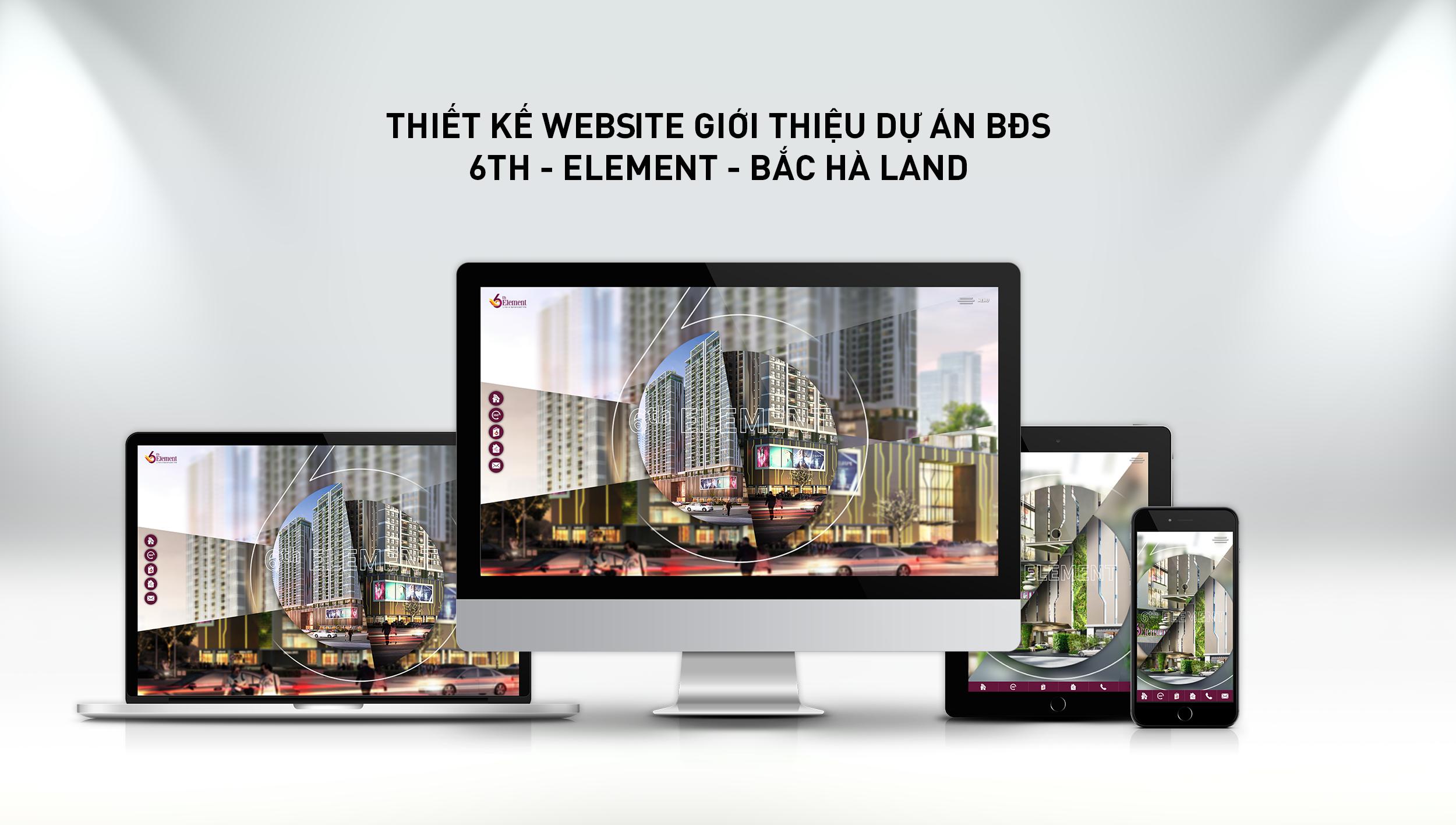 Thiết kế website giới thiệu dự án bất động sản 6th-element