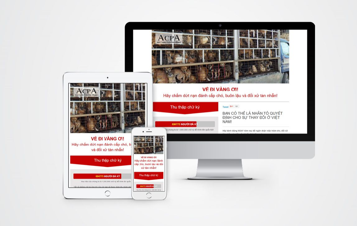 Thiết kế website thu thập chữ ký baovecho.org