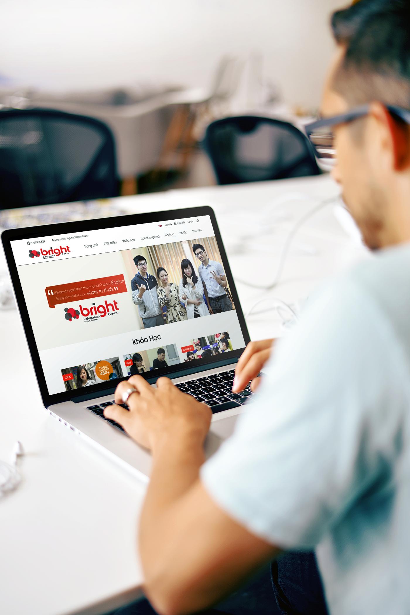 thiết kế website trung tâm tiếng anh bec.edu.vn