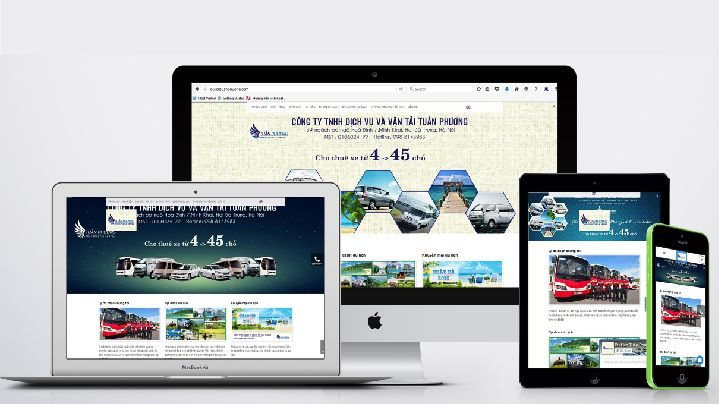 Thiết kế website công ty cho thuê xe du lịch tuấn phương