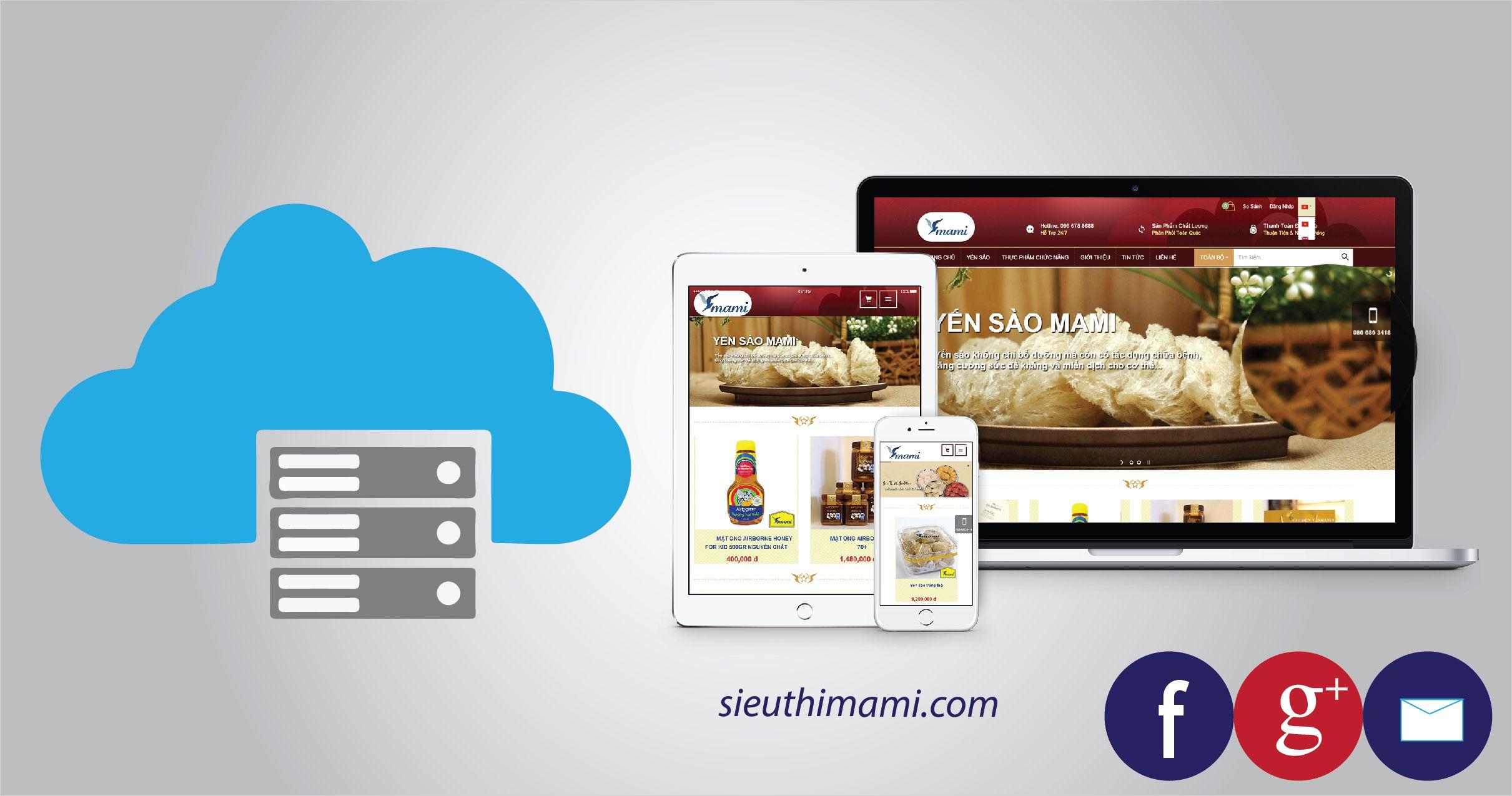 Hosting lưu trữ tốc độ cao cho website sieuthimami.com