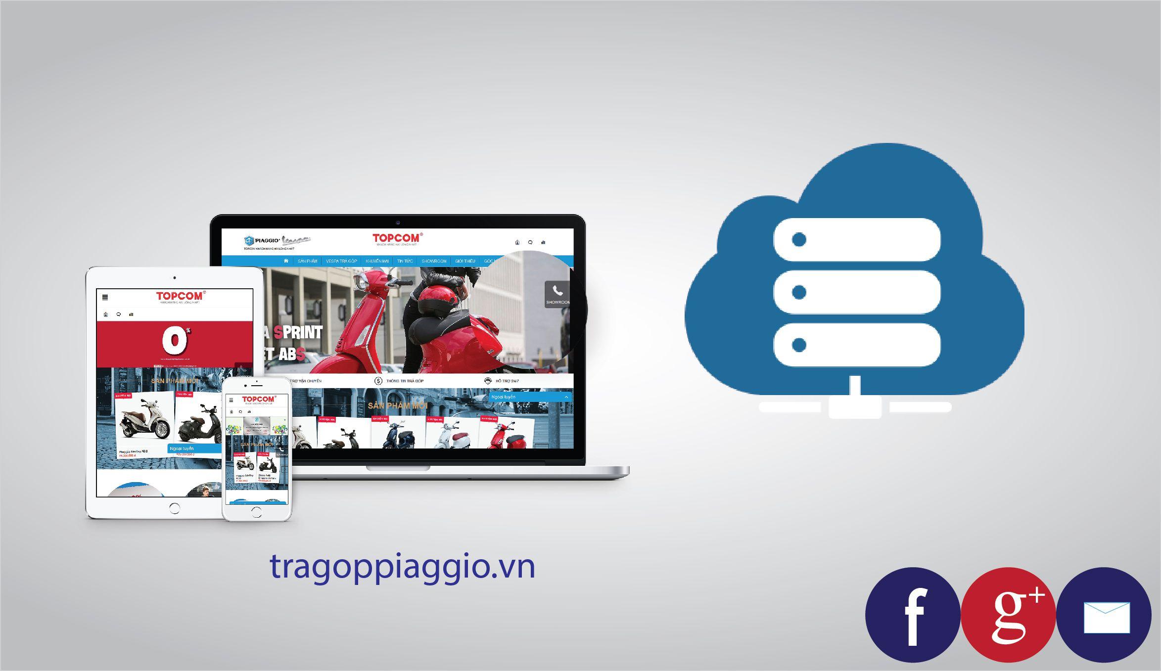 Hosting lưu trữ cho website tragoppiaggio.vn