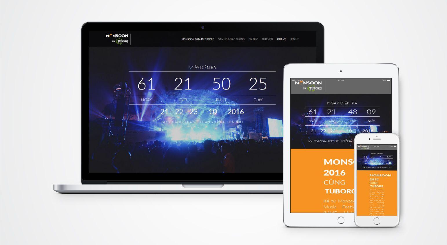 thiết kế website sự kiện âm nhạc