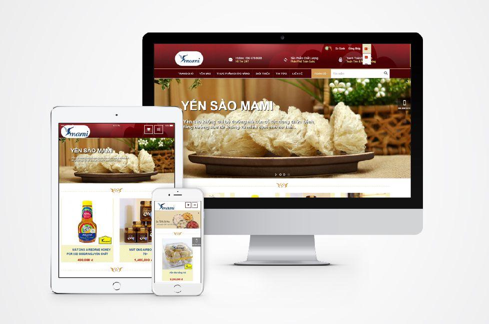 Thiết kế website bán hàng yến sào thực phẩm chức năng