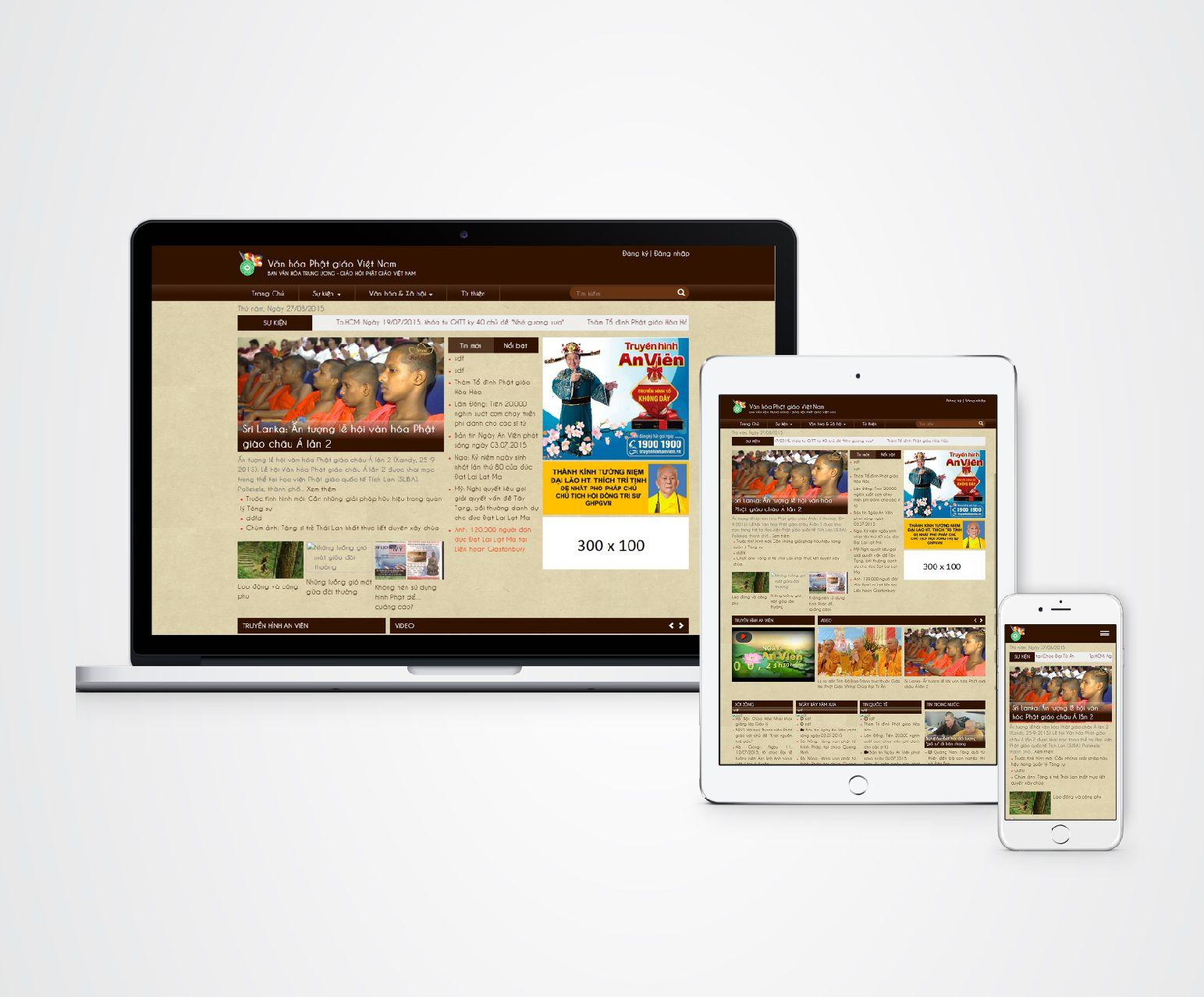 thiết kế website báo điện tử văn hóa phật giáo việt nam