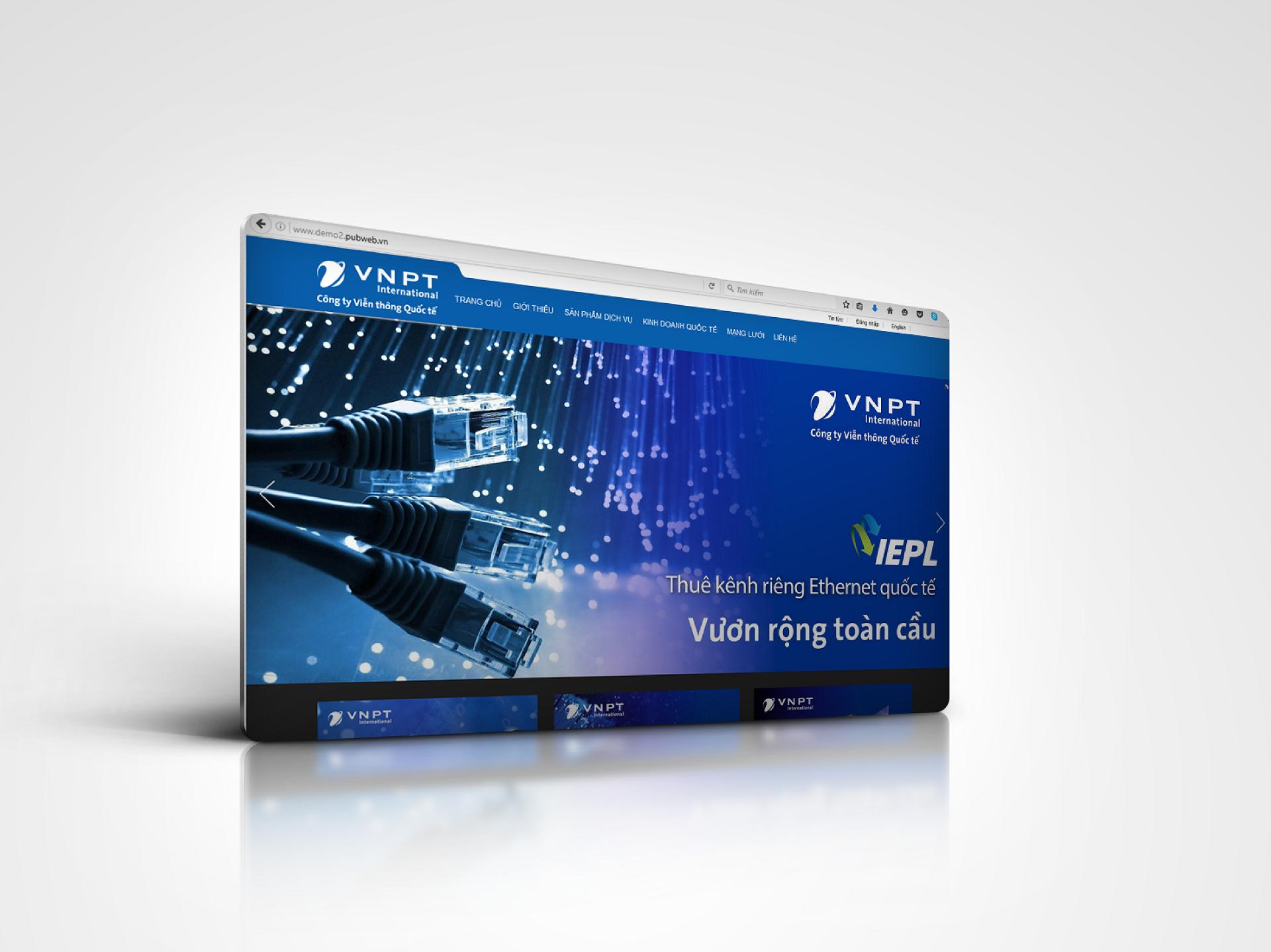 thiết kế website giới thiệu công ty viễn thông quốc tế