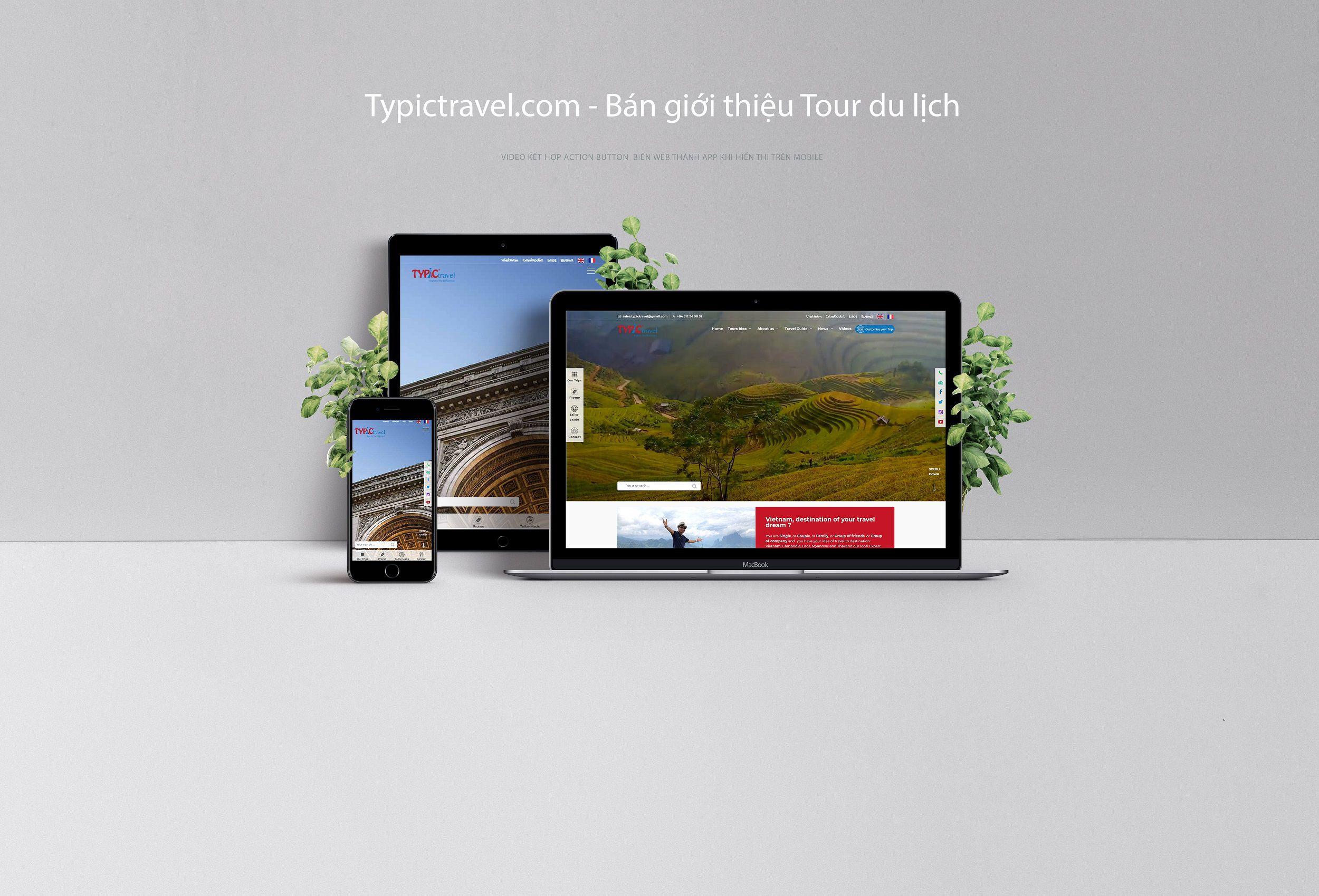 Website giới thiệu công ty bán tour du lịch typictravel