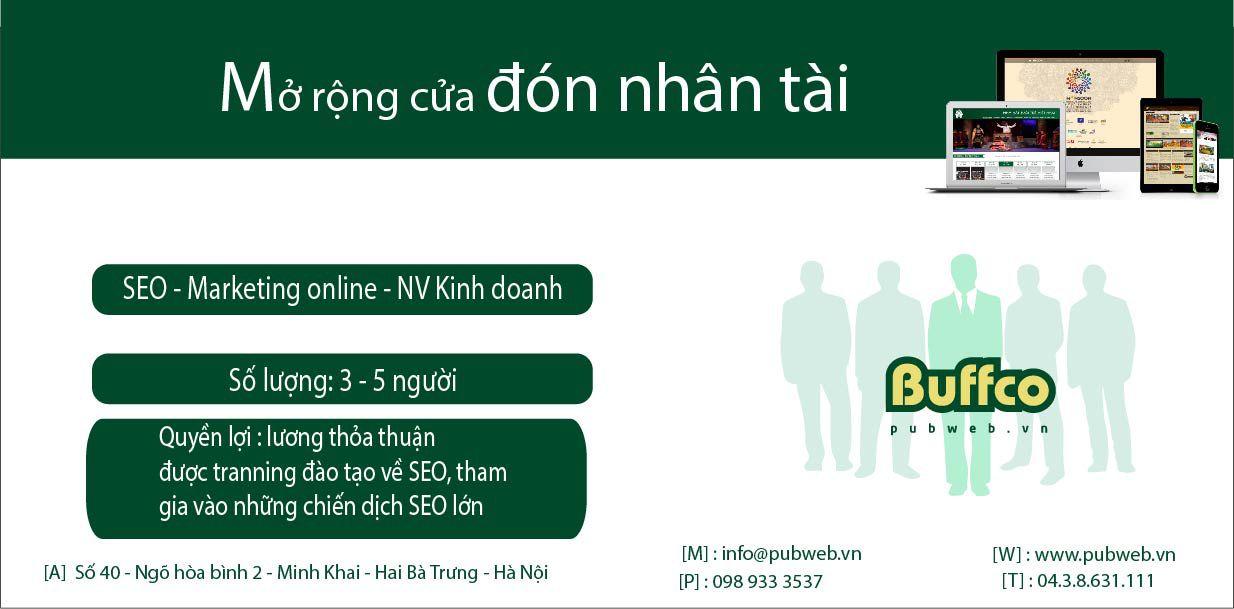 Tuyển dụng nhân viên SEO - Marketing online