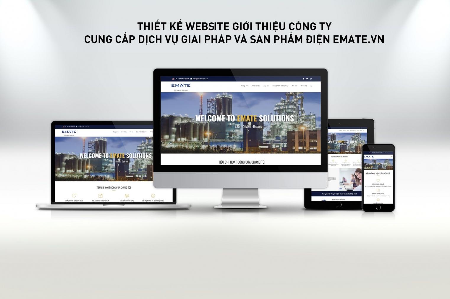 Thiết kế website giới thiệu công ty thiết bị điện Emate