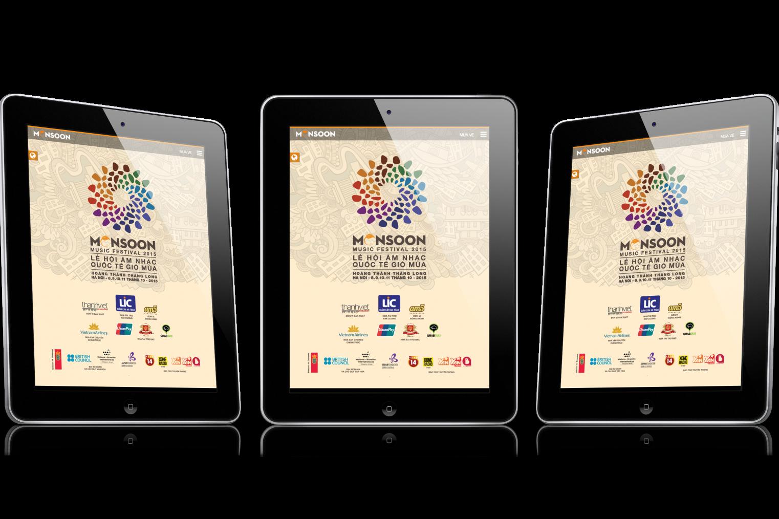 thiết kế website lễ hội âm nhạc gió mùa