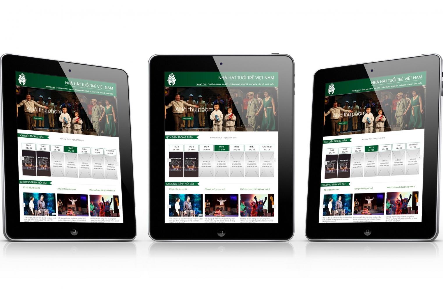 thiết kế website nhà hát tuổi trẻ