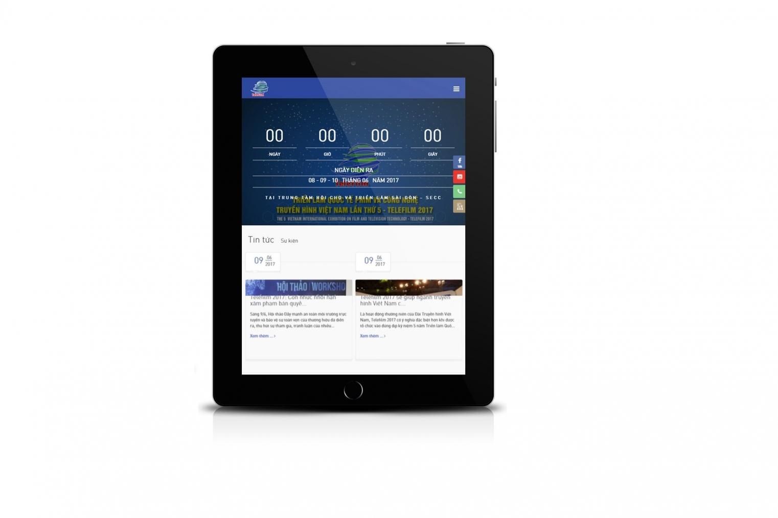 Thiết kế website giới thiệu chương trình triển lãm telefilm