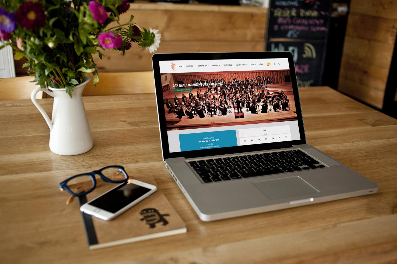 Thiết kế website bán vé trực tuyến giàn nhạc giao hưởng việt nam