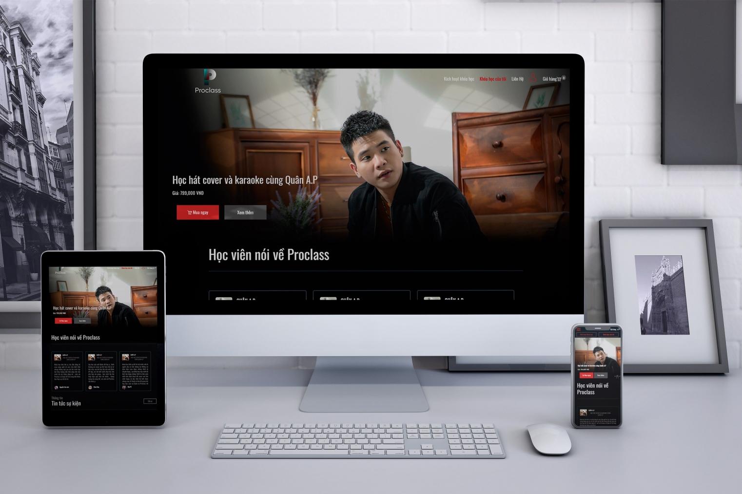 Thiết kế website khóa học online và chống download video trực tuyến