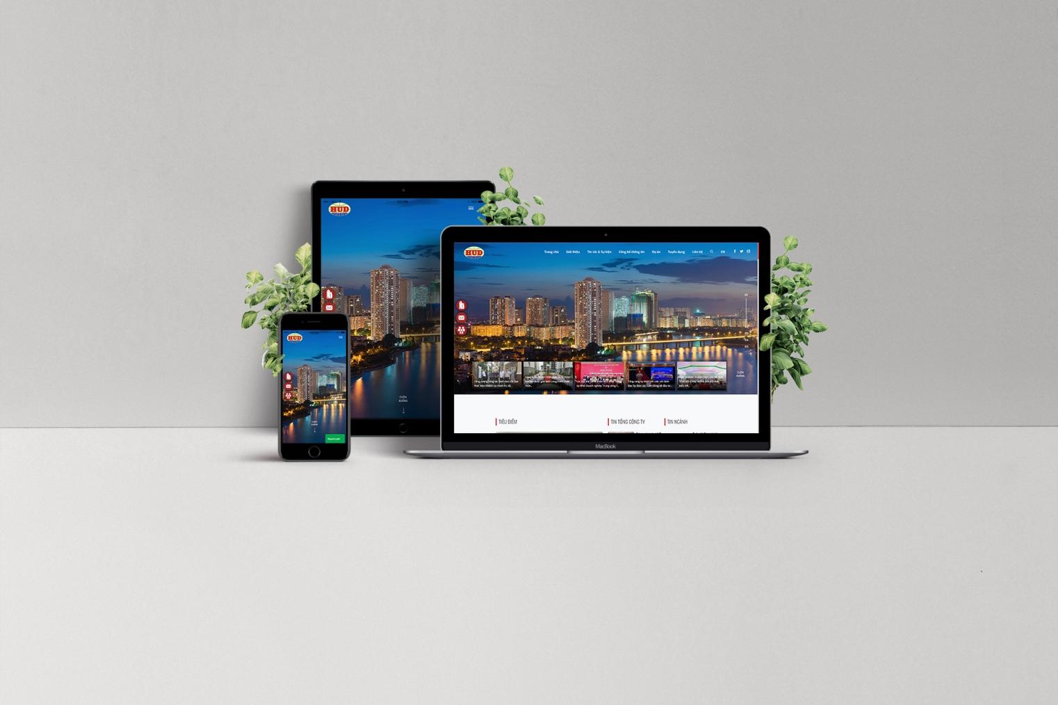 Thiết kế cổng thông tin điện tử HUD.com.vn