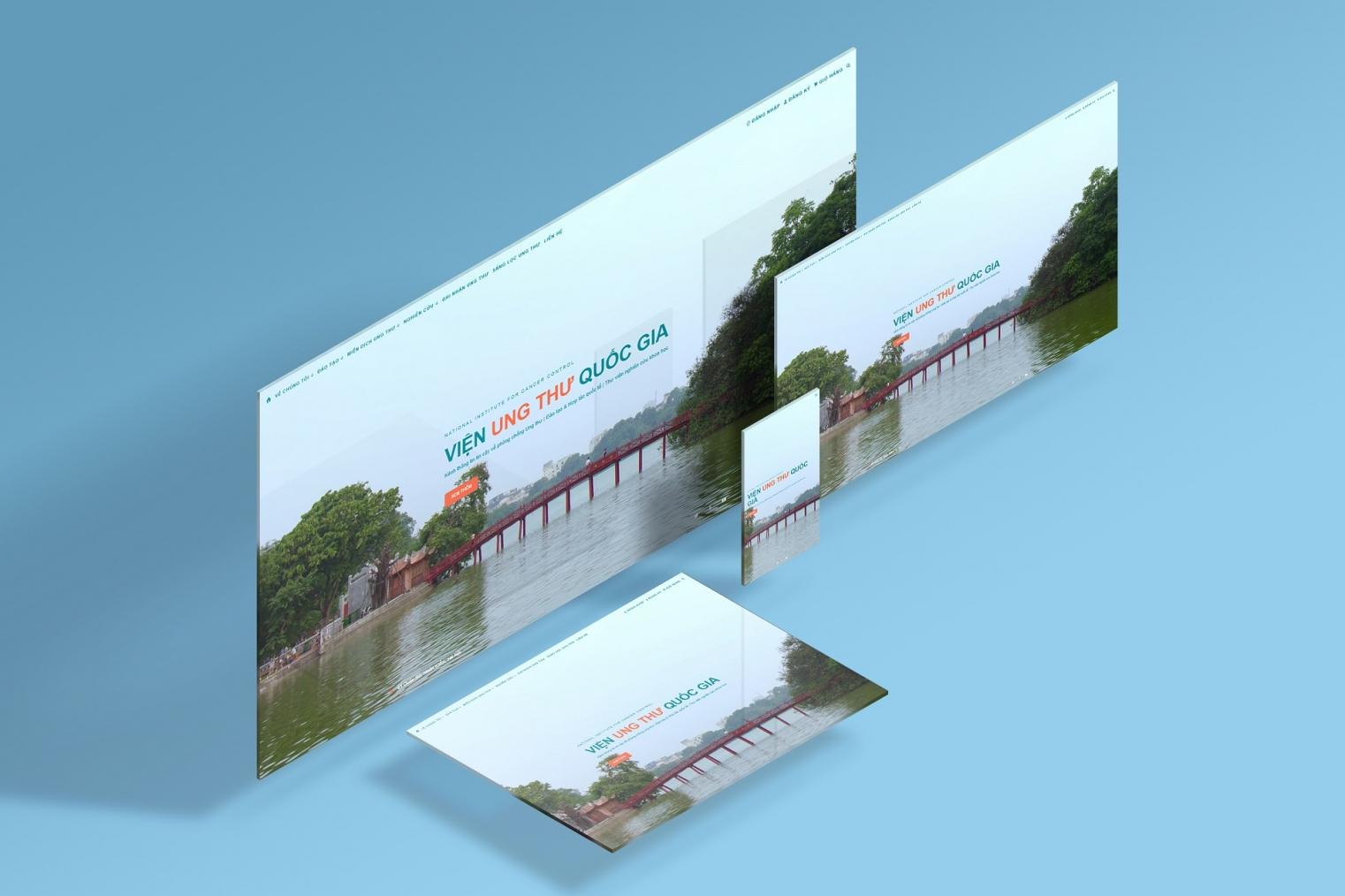 Thiết kế website giới thiệu Viện Ung thư Quốc gia và Đào tạo trực tuyến