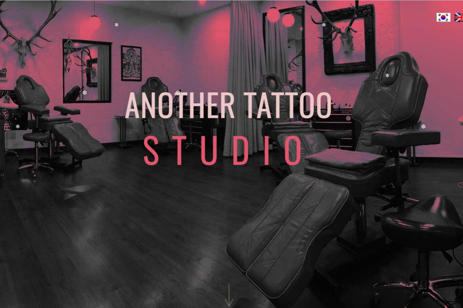 Thiết kế website cửa hàng Săm và Xỏ khuyên Studio - Anothertattoostudio.com
