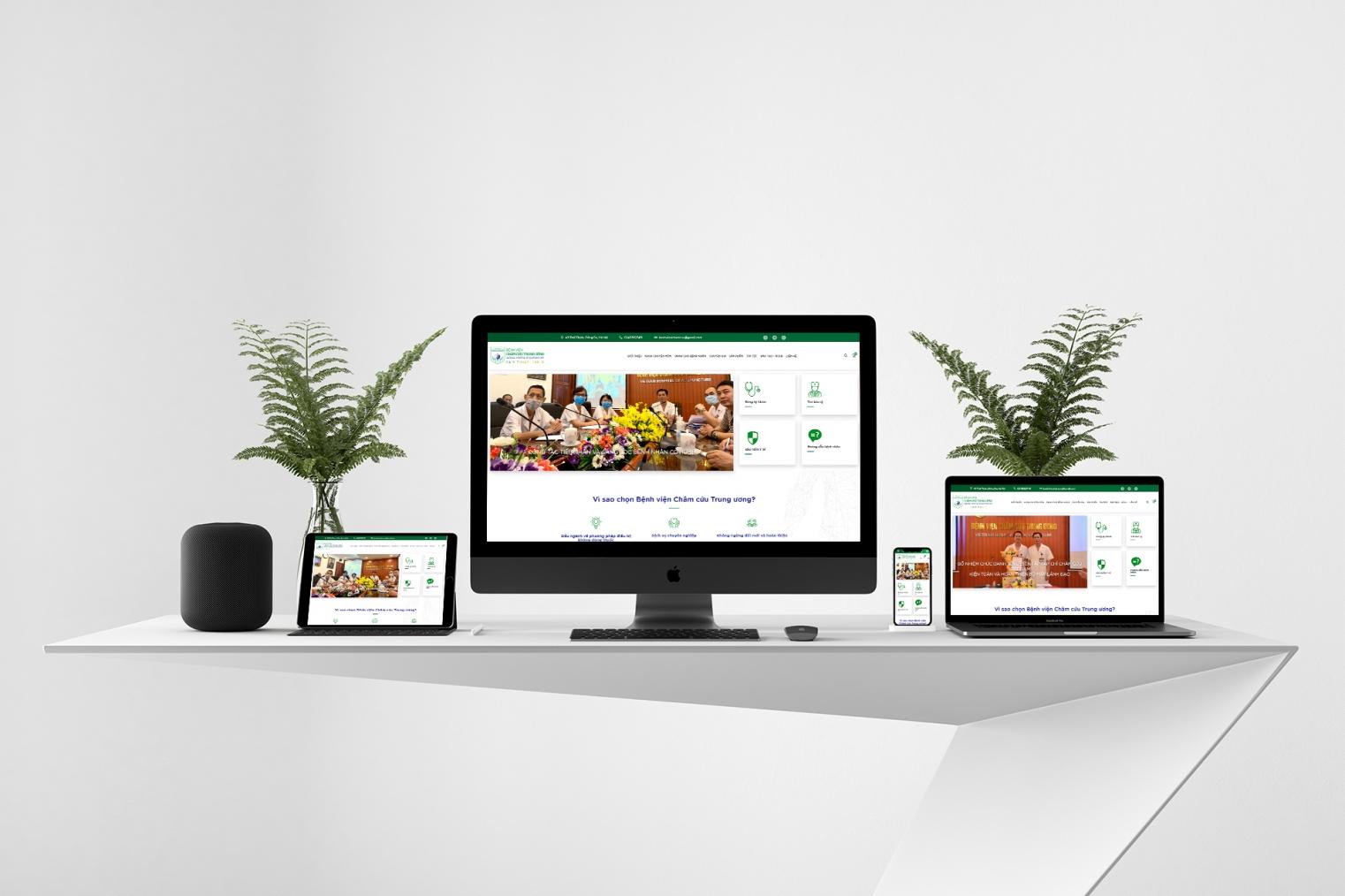 Thiết kế website giới thiệu bệnh viện, đặt lịch khám và thanh toán trực tuyến