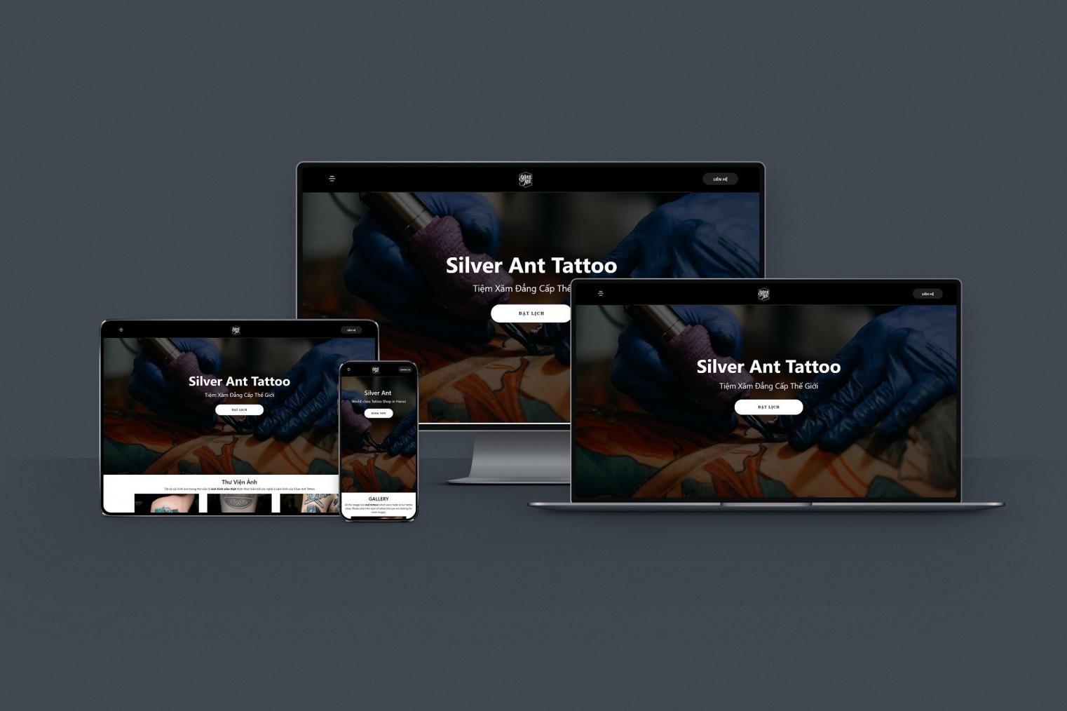Thiết kế website Săm Studio - Silveranttattoo.com